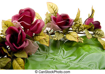 Rose branch with plant sheet