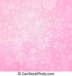 rose, bulles, fond