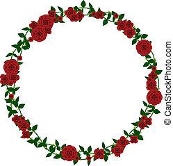 rose, cadre