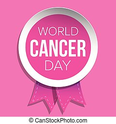 rose, cancer, day., vecteur, mondiale, ruban