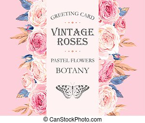 rose, cartolina auguri