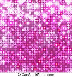rose, cercles, résumé, fond, étincelant