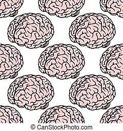 rose, cerveau, seamless, humain, modèle