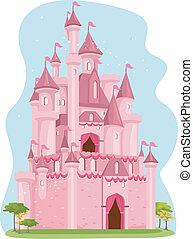 rose, château