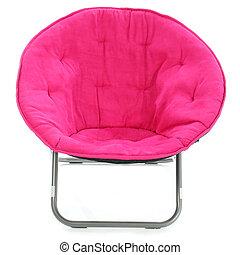 rose, chaud, chaise, sur, blanc