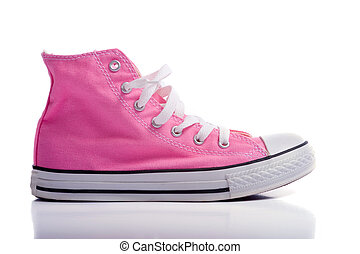 rose, chaussures basket-ball