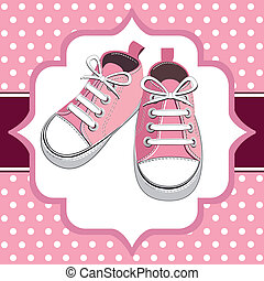 rose, chaussures