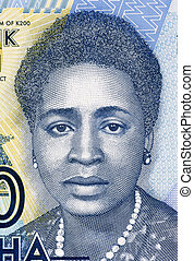 Rose Chibambo (born 1928) on 200 Kwacha 2012 Banknote from ...