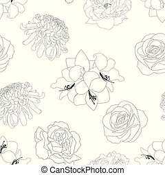 Rose, Chrysanthemum, Carnation, Peony and Amaryllis Flower...