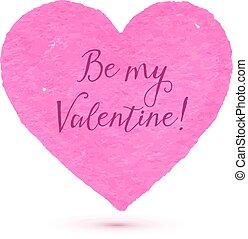 rose, coeur, être, texte, valentin, textured, mon