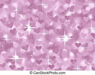 rose, coeur, bokeh, valentin