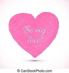 rose, coeur, clair, vecteur, textured, marqueur