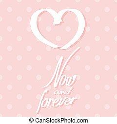 rose, coeur, illustration, vecteur, inscription., carte