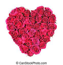 rose, coeur