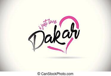 rose, coeur, mot, juste, texte, forme., dakar, amour, police, manuscrit
