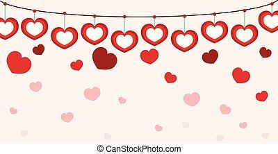 rose, coeur, seamless, fond, valentin