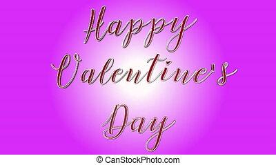 rose, coeur, texte, -, valentin, formes, faire boucle, s, arrière-plan animation, 3d, jour, heureux