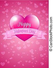 rose, coeur, valentin