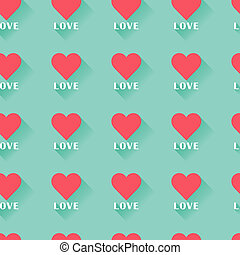rose, coeur, valentine, résumé, pattern., seamless