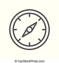 rose, compas, vecteur, icône