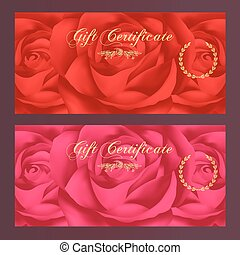 (rose), comprovante, certificado presente