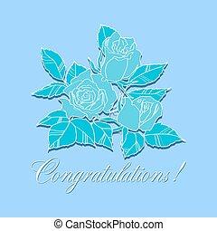 rose, congratulazione