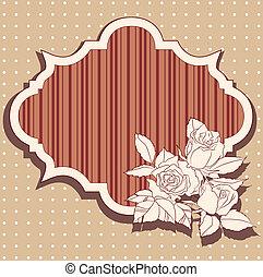 rose, cornice, retro