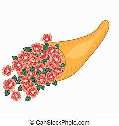 rose, cornucopia