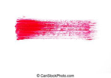 rose, coups, résumé, brosse, blanc, peinture