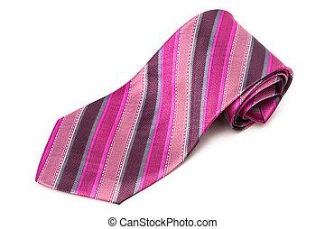 rose, cravate, rayé