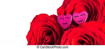 rose, cuori