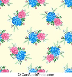 rose cute seamless pattern5-01