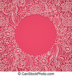 rose, décoratif, carte