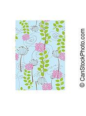 Rose, dandelion and flower wallpaper