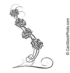 rose decoration - abstract decoration with rose and ...