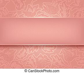 rose, dentelle