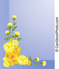 rose design - an illustration of an arrangement of yellow...