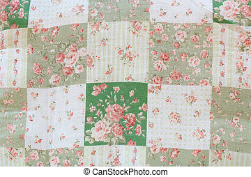 Rose design seamless pattern on fabric background