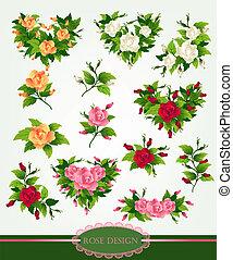 Rose design set