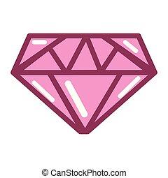rose, diamant, bijouterie