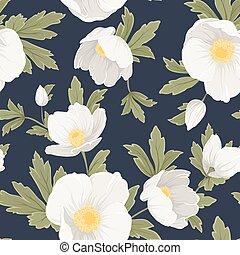 rose, ellébore, anémone, modèle, floral, noël
