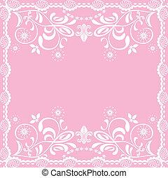 rose, féminin, résumé, fond