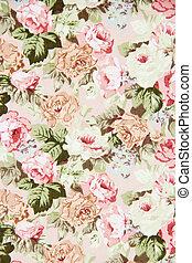 Rose Fabric background, vintage colour effect
