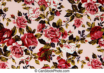 Rose fabric for vintage background