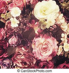 Rose fack flower, vintage stye