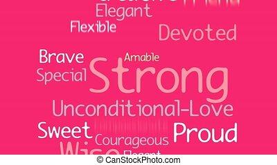 rose, femme, silhouette, card., espace, fond, image, mère, text., intérieur, jaune, salutation, 2d animation, hearts., endroit, mots, pregnant, jour, nuage, heureux