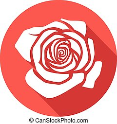 rose flat icon