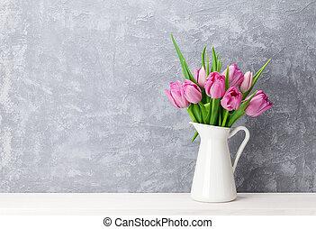 rose, fleurs fraîches, tulipe