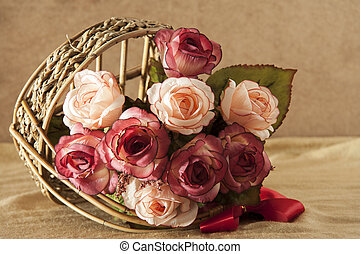 rose, fleurs