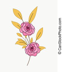 Rose Flower Branch Vector